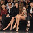 Premier rang de VIP au défilé Dolce & Gabbana à Milan le 23 septembre 2012