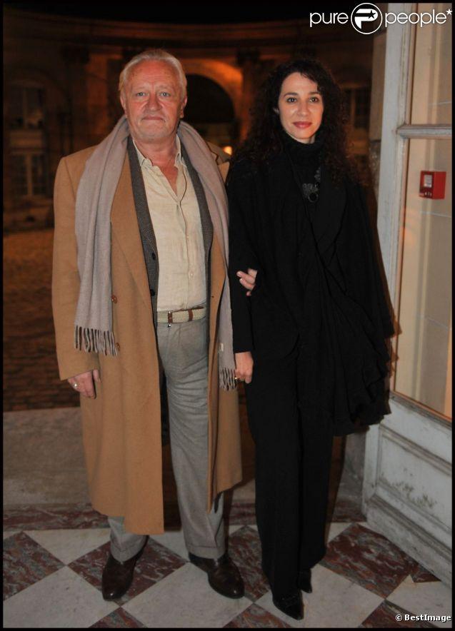 Niels Arestrup et sa femme Isabelle en 2011 à Paris
