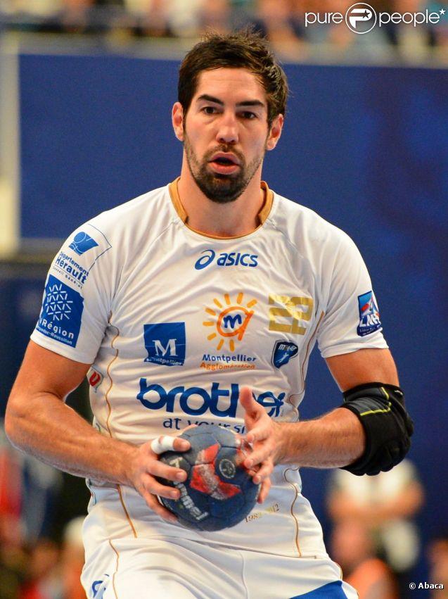 Nikola Karabatic lors du match de handball entre le PSG et Montpellier le 30 septembre 2012 à Paris
