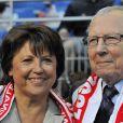 Martine Aubry et son père Jacques Delors, à Paris, le 14 mai 2011.