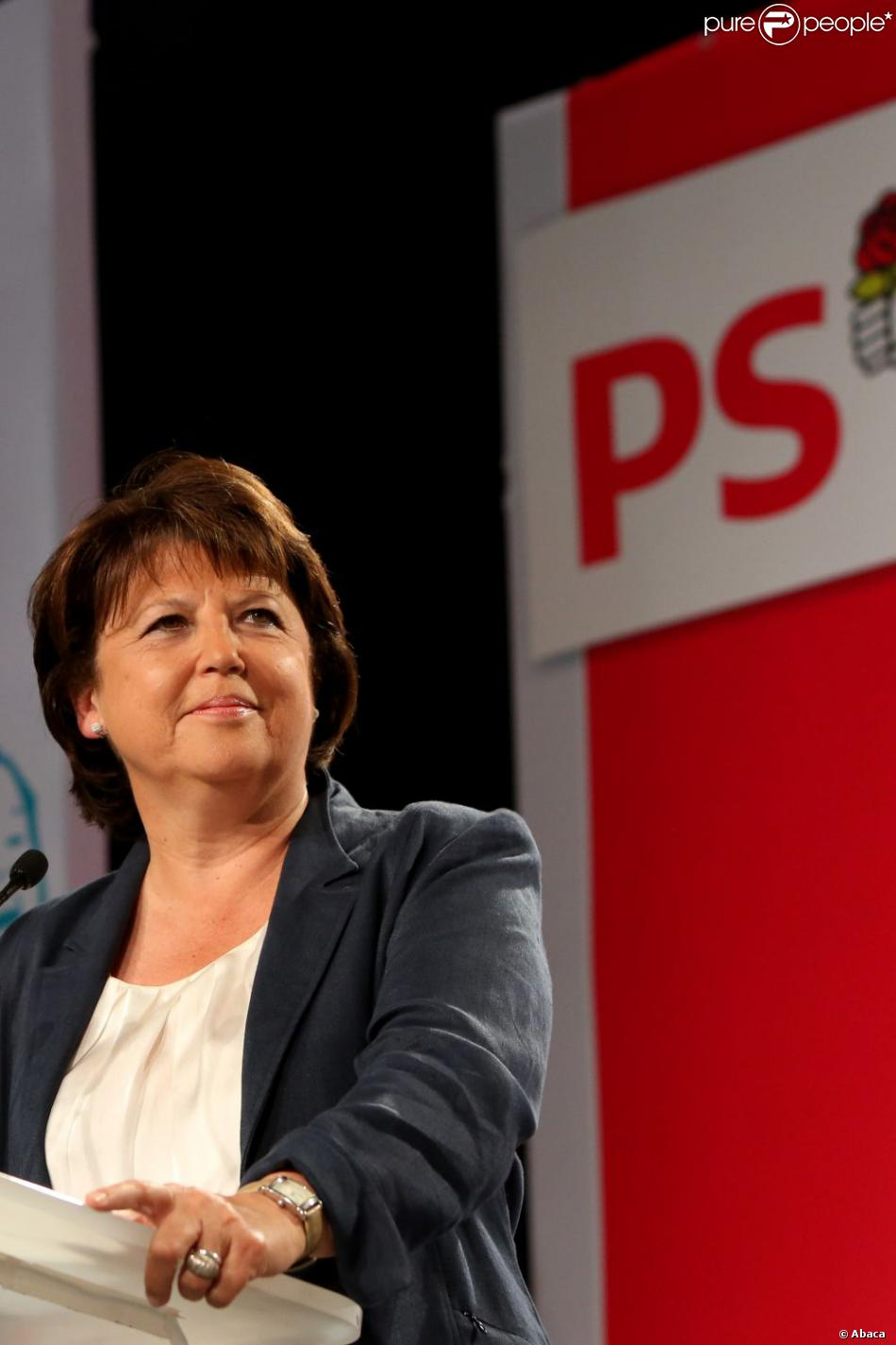 Martine Aubry à La Rochelle, le 25 août 2012.