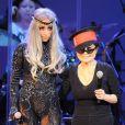 Lady Gaga était en octobre 2010 sur scène avec Yoko Ono et le Ono Plastic Band, à Los Angeles. La Mother Monster recevra le 9 octobre 2012 la bourse LennonOno pour la paix à Reykjavik.