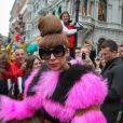 Lady Gaga à Stockholm le 30 août 2012. Elle recevra le 9 octobre la bourse LennonOno pour la paix à Reykjavik.