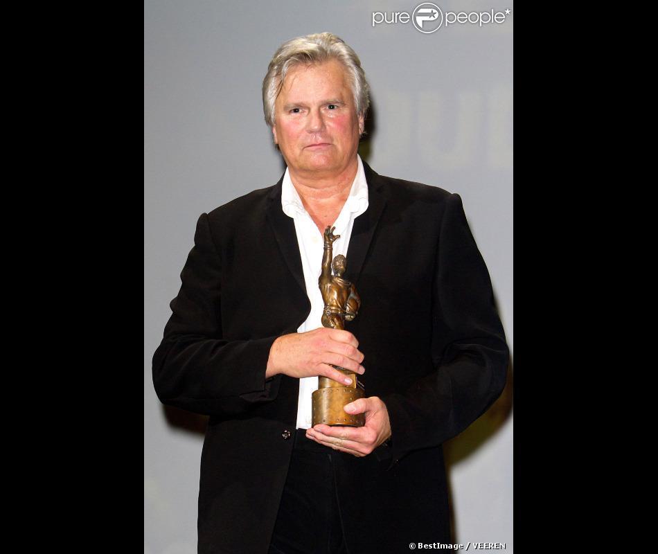 Richard Dean Anderson, héro de MacGyver, reçoit le Jules Verne Award lors du Festival Jules Verne 2012 au Grand Rex, le 10 octobre 2012