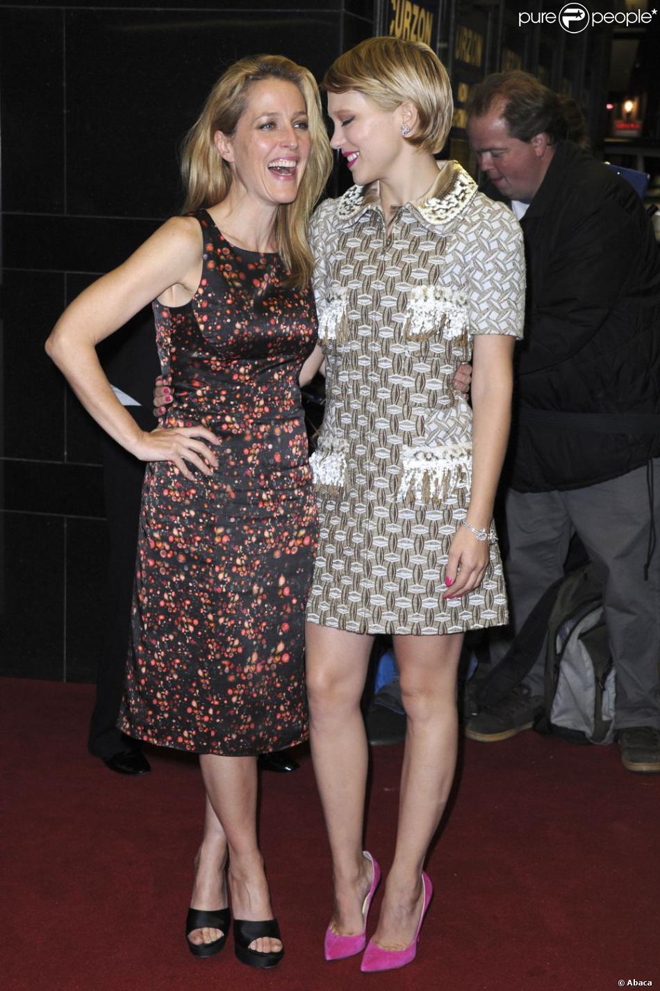 Anderson Gillian Nue gillian anderson de x-files et léa seydoux : un duo aux