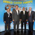 Arnold Schwarzenegger lors de la promotion de son autobiographie  Total Recall , le 11 octobre à Madrid.