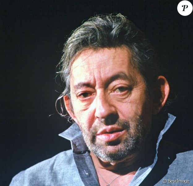 Serge Gainsbourg à Paris en 1988.