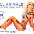 Pamela Anderson a posé aussi pour PeTA.