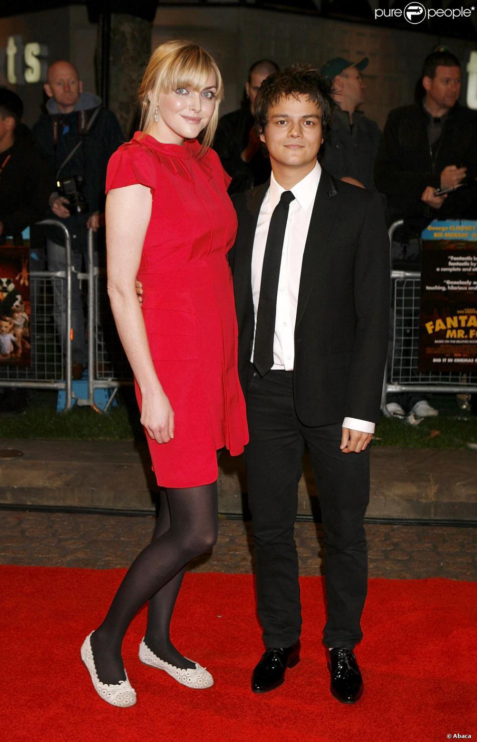 Jamie Cullum et Sophie Dahl à Londres, le 14 octobre 2009.