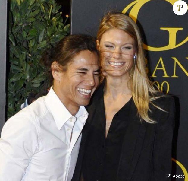 """Julio Iglesias Jr. et sa fiancée Charisse Verhaert célèbrent leur dernière soirée de """"célibataires"""" avant leur mariage, au club Gabana 1800 à Madrid, le 1er novembre 2012."""
