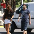 Christian Vieri et une ''amie'' à Miami le 2 novembre 2012.