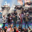 Les Backstreet Boys au parc Disneyland à Los Angeles le 4 novembre 2012.