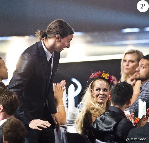 Zlatan Ibrahimovic et sa compagne Helena Seger lors de la remise du Ballon d'or suédois à Stockholm, le 12 novembre 2012.