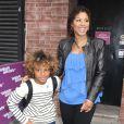 Toni Braxton et son fils Diesel à New York le 2 avril 2012.