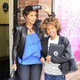 Toni Braxton accompagnée de son fils Diesel à New York le 2 avril 2012.