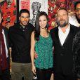 Mark Abraham, Eli Roth, Grace Huang, Russell Crowe et le rappeur-réalisateur RZA pour The Man With The Iron Fists, le 28 octobre 2012.