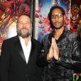 RZA et Russell Crowe présents lors d'une séance spéciale de The Man With The Iron Fists, le 28 octobre 2012.