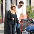 Goldie Hawn fête ses 67 ans avec ses enfants Kate Hudson et Olivier Hudson à Pacific Palisades à Los Angeles le 21 novembre 2012.