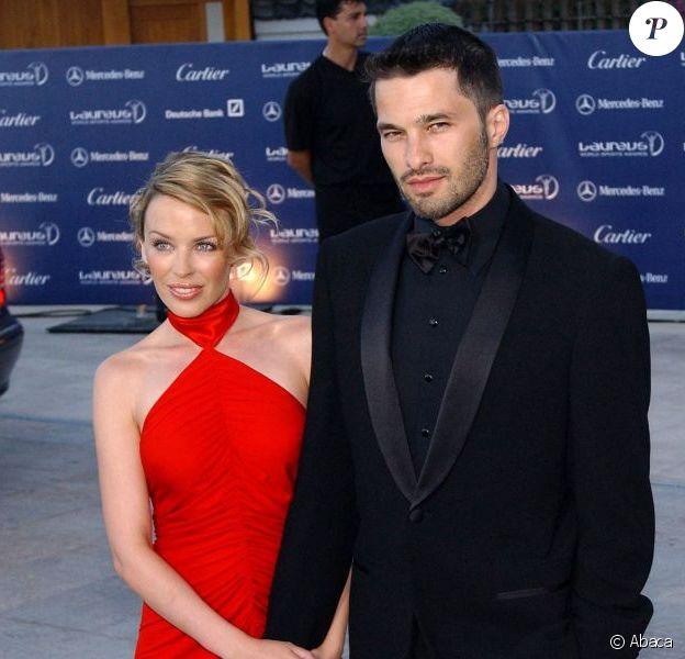 Kylie Minogue et Olivier Martinez à Monaco, le 20 mai 2003.