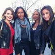 Malika Ménard a twitté une photo du tournage de Paris tout compris diffusé sur France 3 le 1er décembre 2012. Elle pose aux côtés de ses amies les Miss Corine Coman, Laetitia Bléger et Alexandra Rosenfeld