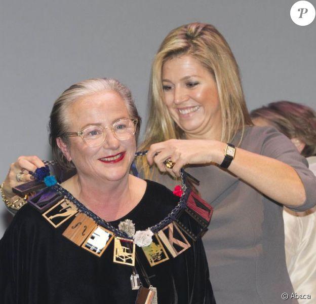 La princesse Maxima des Pays-Bas remettait le 26 novembre 2012 le Prix du fonds pour la culture Prince Bernhard à Lidewij Edelkoort, star internationale des tendances.