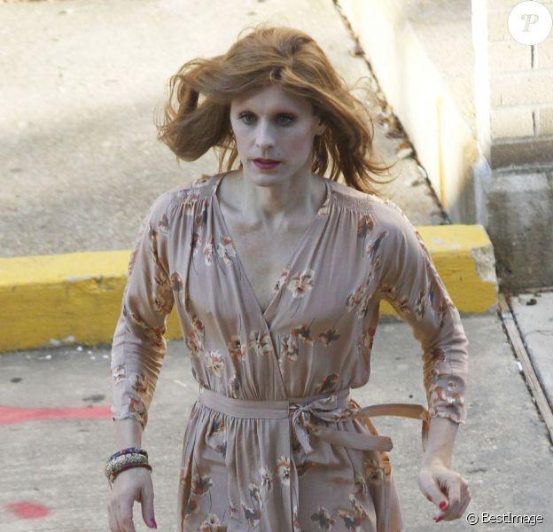 Jared Leto en transsexuel sur le tournage de son nouveau film The Dallas Buyers Club dont le tournage se déroule à la Nouvelle-Orléans, le 18 novembre 2012.