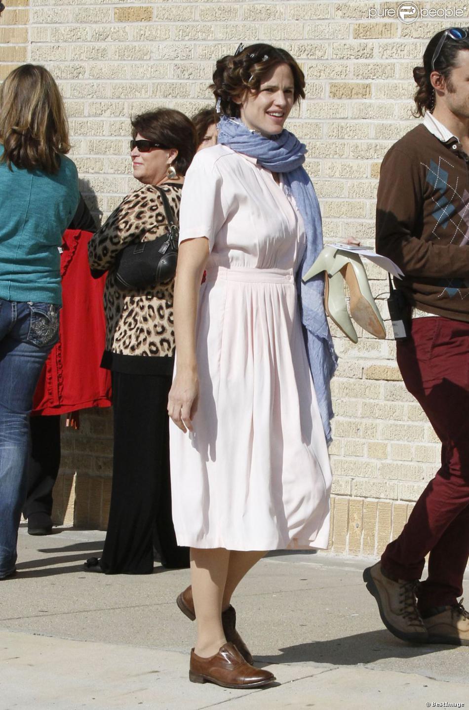 Jennifer Garner sur le tournage du film The Dallas Buyers Club à la Nouvelle-Orleans, le 29 novembre 2012