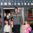 Toute la famille Affleck/Garner fête l'anniversaire de Violet, 7 ans, en compagnie de ses copines, le 1er décembre 2012 à Brentwood