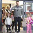L'adorable Violet Affleck fête ses 7 ans avec sa famille et ses amies, à Brentwood, le 1er décembre 2012