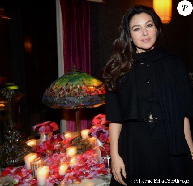 Monica Bellucci, splendide au dîner Dior le 2 décembre 2012 à Marrakech
