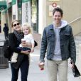 Amy Adams, son fiancé Darren Le Gallo et leur fille Aviana à Beverly Hills, le 10 novembre 2012.