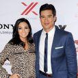 Mario Lopez et sa femme Courtney Mazza à la soirée X Factor Viewing Party à Los Angeles le 6 décembre 2012.