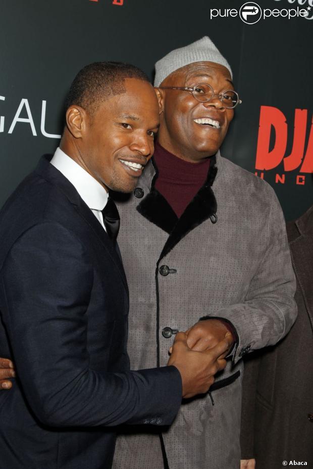 Jamie Foxx et Samuel L. Jackson s'amusent à la première de Django ...