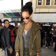 Rihanna, stylée à son arrivée à la gare Kings Cross St Pancras. Londres, le 1er septembre 2012.