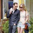 Kate Bosworth et son fiancé Michael Polish à Los Angeles, le 24 avril 2012.