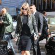 Kate Moss arrive à l'hôtel George V après le défilé Stella McCartney printemps-été 2013. Paris, le 1er octobre 2012.