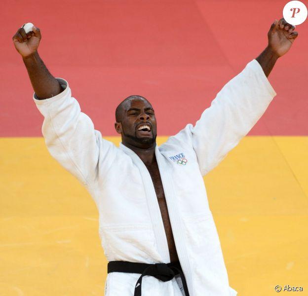 Teddy Riner après son titre olympique acquis le 3 août 2012 à Londres