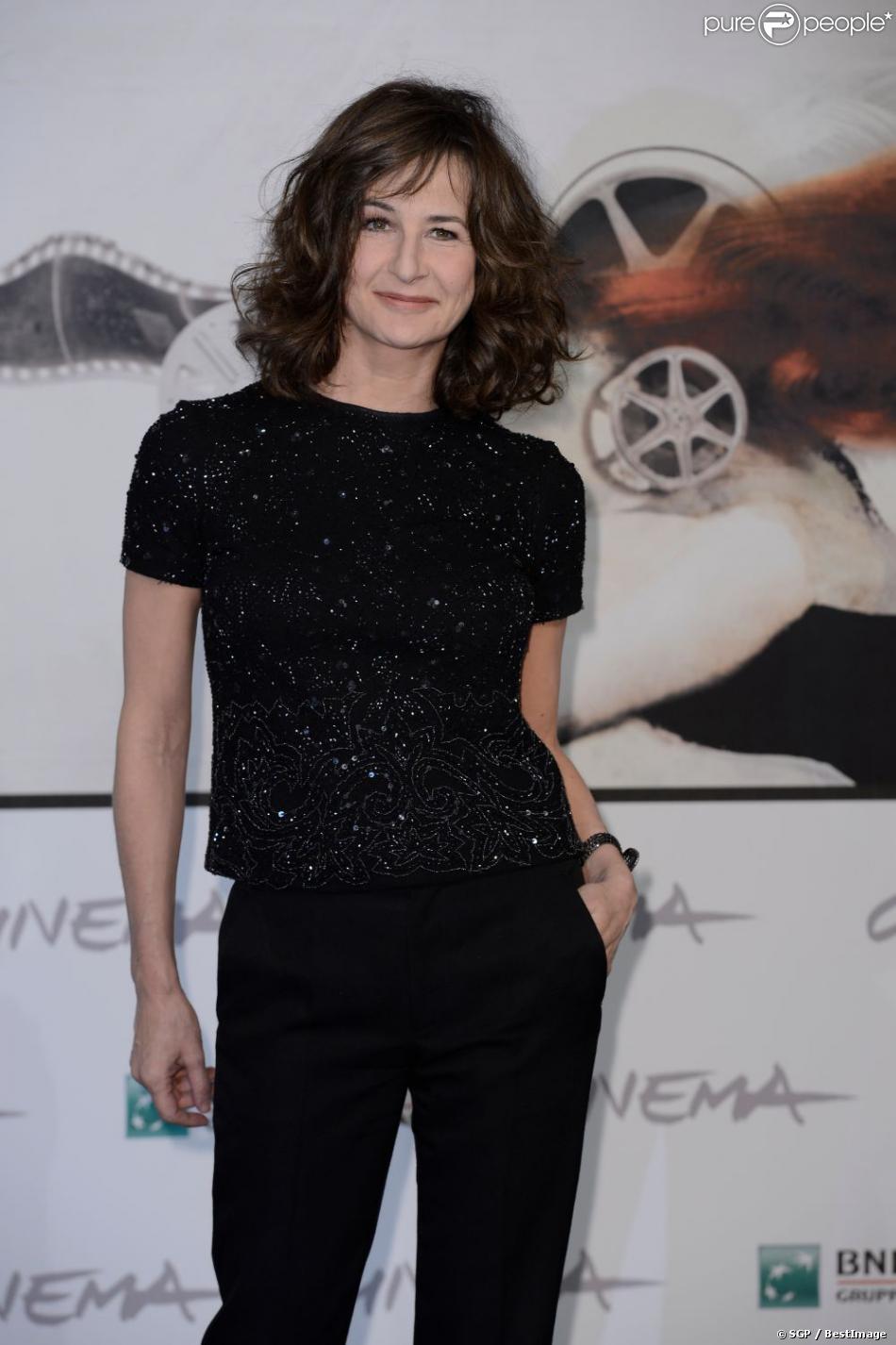 Valérie Lemercier lors du photocall du film  Main dans la main  lors du festival du film de Rome. Le 10 novembre 2012 à Rome.