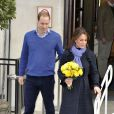 Le prince William et son épouse Kate Middleton à la sortie du King Edward VII Hospital à Londres, le 6 décembre 2012.