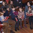 La princesse Mary et le prince Frederik de Danemark étaient avec leurs quatre enfants, Christian, Isabella, Vincent et Josephine, au concert de Noël annuel à l'église Esajas de Copenhague, le 16 décembre 2012.