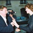 Fanny Ardant et Gérard Depardieu lors du film Prix de l'Académie de Balzac, le 10 mai 2000.