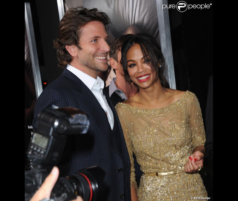 Bradley Cooper, Zoe Saldana à l'avant-première de The Words à Los Angeles le 4 septembre 2012.