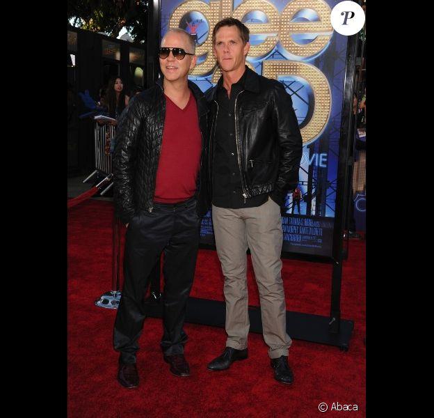 Ryan Murphy et son mari David Miller, au concert des chanteurs de Glee à Los Angeles le 6 août 2011.
