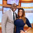 Magic Johnson et Wendy Williams lors du Wendy Williams Show à New York  le 10 octobre 2012