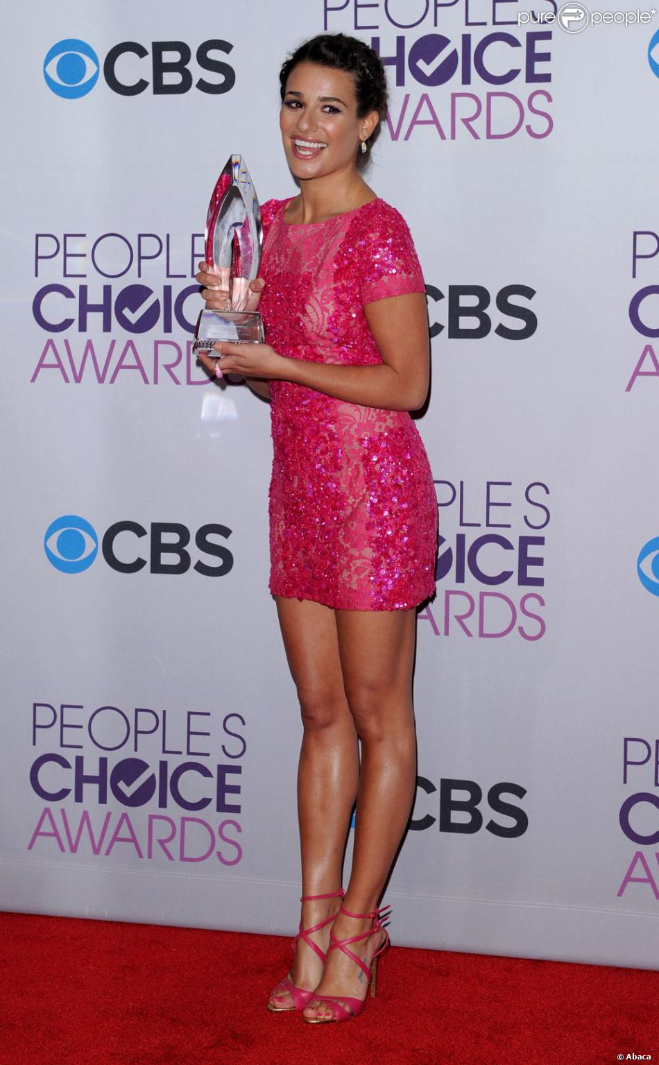 Lea Michele aux 39e People's Choice Awards au Dolby Theatre à Los Angeles, le 9 janvier 2013.