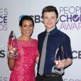 Lea Michele et Chris Colfer aux 39e People's Choice Awards au Dolby Theatre à Los Angeles, le 9 janvier 2013.