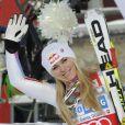 Lindsey Vonn lors du SuperG de Saint Moritz le 8 décembre 2012