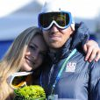 Lindsey Vonn et son désormais ex-mari Thomas après le Super G de Vancouver lors des Jeux olympiques à Creekside park à Whistler le 20 février 2010