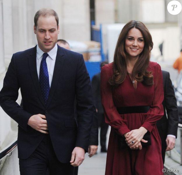 Le prince William et Kate Middleton le 11 janvier 2013 à Londres à la National Portrait Gallery