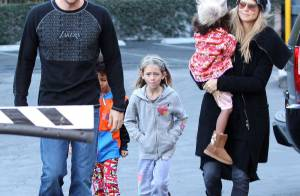 Heidi Klum : Sortie gourmande avec les enfants et son chéri Martin Kirsten